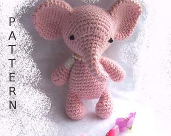 Baby Elephant Crochet Pattern-Seamless Elephant-Toy Elephant DIY-Amigurumi Elephant-DIY Crochet Toy-Elephant Tutorial-Small Crochet Animals