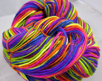 Neon Rainbow Stripe Self-Striping yarn