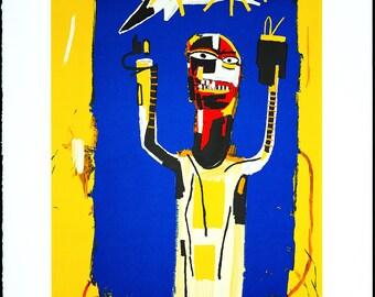 JEAN-MICHEL BASQUIAT - 'Welcoming' - original lithograph on Arches paper - c1997 - rare (Basquiat Estate/Enrico Navarra Gallery, Paris)