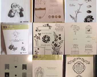 Stampin up! stamp sets new and used