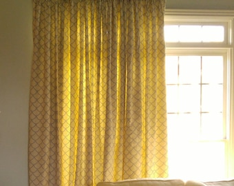 """Custom Pinch Pleat Drapes - Lined up to 54"""" Wide Panel - Labor Cost ONLY"""
