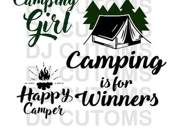 3 Camping SVG files - Files for Camping Family - Funny Camping SVG Files - Caming T Shirt Design