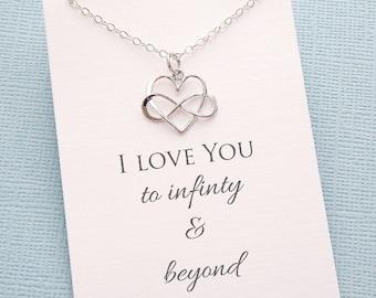 Layering Necklace | Infinity Necklace, Boho Jewelry, Dainty Minimalist Jewelry, Wife Birthday, Boho Gift Wife, Wife Gift |L01