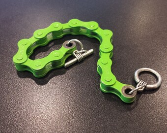 Lime Green Handmade Bicycle Chain Bracelet , Cyclist MTB gift, Green Gift,  Cyclist Biker