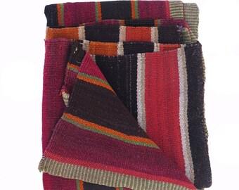 Vintage Peruvian Frazada / Rug /Blanket / Peruvian Rug