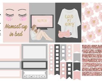 Staycation, one sheet, weekly kit, planner stickers, - full box, half box, happy planner, erin condren, matte, glossy, mini kit weekly