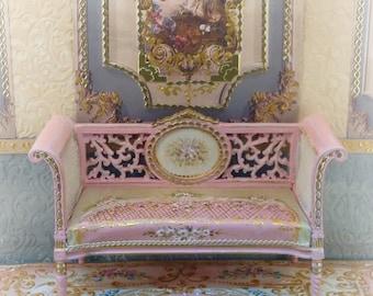 Pink Carpet 1:12. Dollhouse Furniture