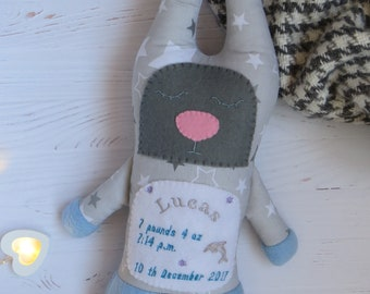 Personalized bunny, bunny toy, stuffed bunny, stuffed animal, baby toys handmade, plush bunny, baby gift, personalized toy, sleepy bunny