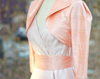 The Surplice Dress---'57 Retro---Amazing Silk Wedding Separates