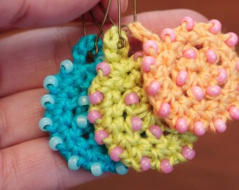 Crochet Jewelry Pattern, Crochet Necklace With Beads, Beaded Jewelry Tutorial(22)