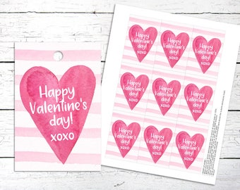 Happy Valentines Day Tags. Valentines Day. Love Tags. Heart Tags. Valentines Tags.Printable Heart Tags. Love Tags. Heart Tags
