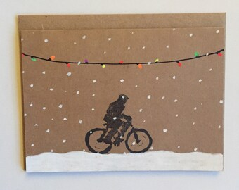 Winter Ride | Hand Printed Card
