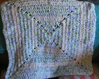 Crochet Fuzzy Baby Blanket