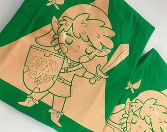 Link - Zelda shirt, videogames t-shirt, Link illustration by Andrea Tobar