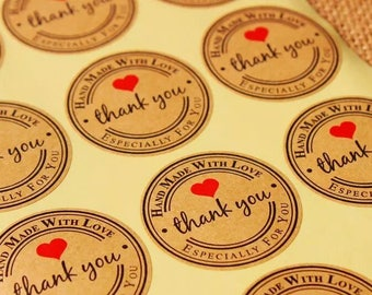 Wholesale 'Handmade with Love' Packaging Stickers