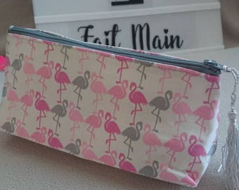 Pretty triangular pouch cotton Flamingo Pink