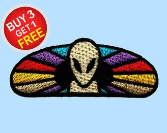 Alien Patches Iron On Embroidered Patches Iron On