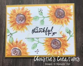 Thankful for You Notecard Blank inside