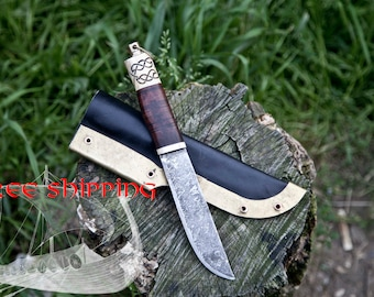 Forged by hand scramasax