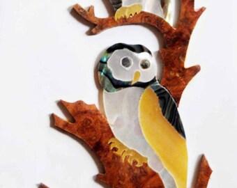 Kaytro - Guitar, Mandolin, Ukulele Parts - Two Owl Inlay Diy, Wood For Top board, Back board IL27