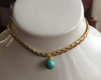 Natural Turquoise Choker Necklace December Birthstone