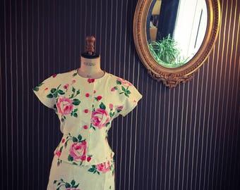Floral ungaro skirt suit