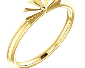 Sterling Silver Geometric Stackable Ring - Gold plated