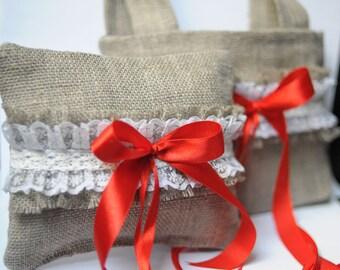 Wedding Bag basket pillow ring Flower Girl bag Wedding pillow ring
