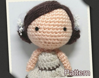 Crochet Amigurumi Cutie Girl Mocha Doll PDF Pattern Stuffed Toy