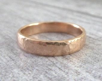 Rose Gold Wedding Band - 4mm