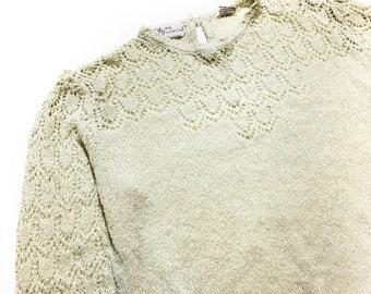 Vintage Crochet Lace Sweater