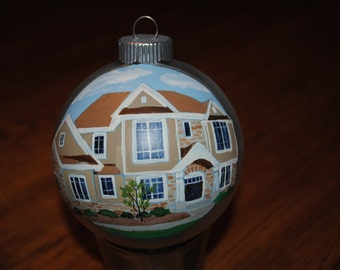 Custom Home Hand Painted Ornament ***** Sold*****