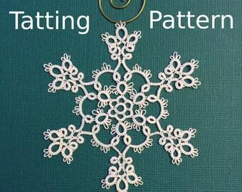 "Snowflake Tatting Pattern ""Winter Frost"" - PDF - Instant Download"