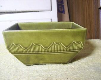 Vintage USA Green Planter #611