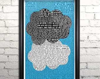 "Fault in Our Stars word art print - 11x17"" Framed"