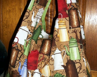Vintage Coffee Pots Tote - Shopping - Market Bag