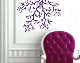 Wall decals 4 CORAL REEF BRANCHES Vinyl art interior decor by Decals Murals (23x26)