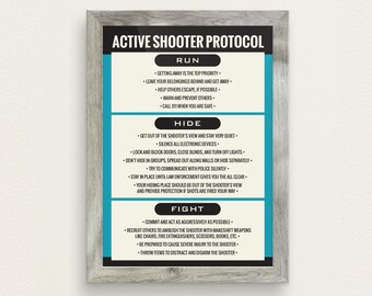 Active Shooter Protocol Poster