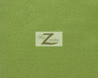 "Solid Acrylic Felt Fabric - CELERY - Sold By The Yard - 72"" Width"