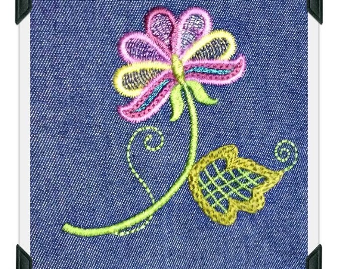 Jacobean Spring Flower Double Pot Holder Cover Project - FWW ( 1 Machine Embroidery Project from ATW ) XYZ17A