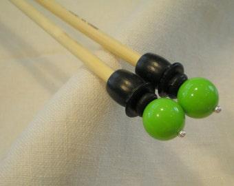 Wooden Knitting Needles - Size US 9