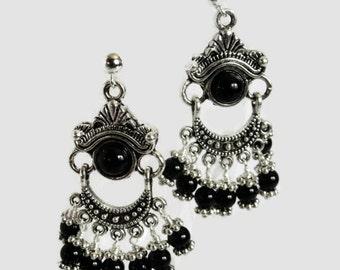 Bali and Black Earrings
