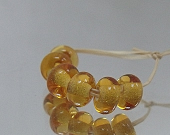 Cider, Artisan Lampwork Glass Beads, SRA, UK