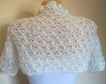 LIQUIDATION Stock 30% OFF Ready To Ship Shrug Bolero Wedding Bridal Accessories Hand Knitted Jacket Women Crochet Vest Romantic Capelet