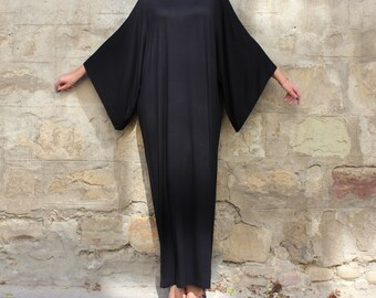 Black Maxi Dress, Caftan, Abaya, Plus size dress, Plus size clothing, Elegant dress, Plus size maxi dress, Kaftan, Party dress, Long dress