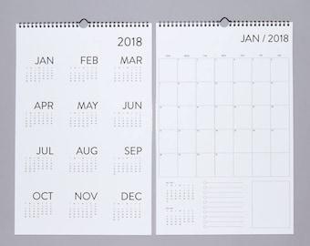 SALE. 12 Month Wall Calendar 2018