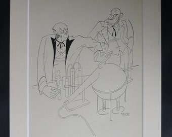 1920s Antique Science Print of Henry Bessemer and Carl Wilhelm Siemens, Inventor Gift, Available Framed, Scientific Art, Victor Reinganum