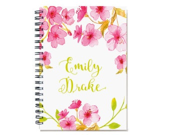 2018 Monthly Planner, 2018-2019 Personalized Calendar Notebook, 12 24 month calendar, start any month,SKU: pn watercolor