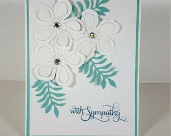 Sympathy Card - Floral Sympathy Greeting Card