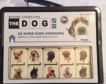 The Dog Artist Collection 28 super sized dominoes